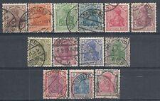 1920 GERMANIA USATO REICH WEIMAR ALLEGORICA DEUTSCHES REICH 13 VALORI - DE008