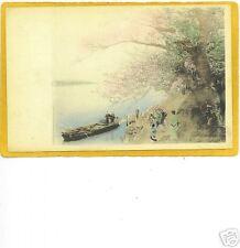 Japanese Postcard - Women Rickshaw and Boat Japan