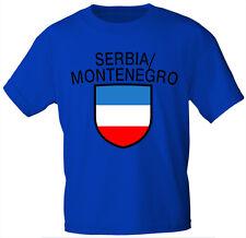 Kinder T-Shirt  Gr 80-152 Druck Wappen Serbien SERBIA MONTENEGRO 76112
