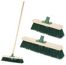 1.2M Traditional Outdoor Garden Sweeping Brush Yard Floor Wooden, Handle