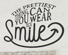 Prettiest Thing You Wear Smile Happy Fashion Wall Decal Vinyl Art Sticker Q76