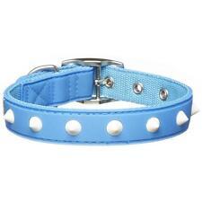 NEW PET Gummi Pet Spike Dog Collar Blue