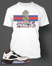 T shirt to match Jordan 5 Neymar Shoe  White Pro Club Tee Shirt