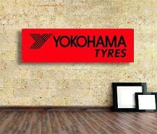 Yokohama Sign Vinyl Banner Flag  Garage Workshop Adversting Many Size