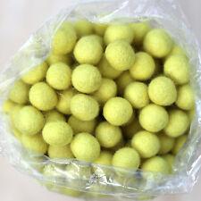 2.5cm YELLOW Felt Wool Balls - CHOOSE QUANTITY - handmade beads pom poms craft