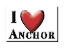 SOUVENIR UK - ENGLAND FRIDGE MAGNET UNITED KINGDOM I LOVE ANCHOR (SHROPSHIRE)
