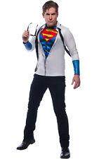 Superman Fancy Dress Costume Top & Tie Clark Kent Outfit