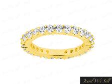 2.00Ct Round Brilliant Diamond Shared Prong Eternity Band Ring 10K Gold G-H I1