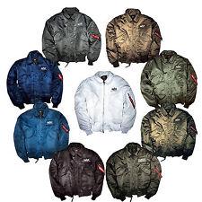 Alfa industrie CWU 45 100102 8 colori S-5XL jacket giacca di bombardiere Aviator nuovo