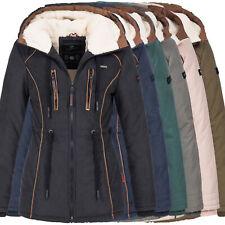 Marikoo Damen Winter Jacke warme Winterjacke Parka Mantel Teddyfell B610 NEU