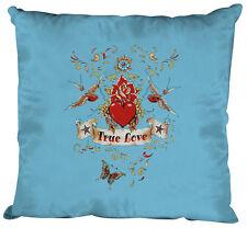 (09377-1 bleu clair) oreiller dekokissen + remplissage 40 x 40 cm True Love cœur
