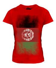 AFGHANISTAN FADED FLAG LADIES T-SHIRT TEE TOP AFGHANESTAN FOOTBALL AFGHAN SHIRT