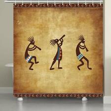 Southwest Native American Kokopelli Ethnic Image Fabric Shower Curtain Bathroom
