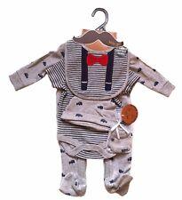 Newborn, 0-3, 3-6 Little Gents 5 Piece Gift Set Baby Vest Grow 100% cotton
