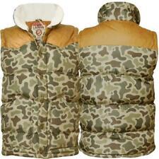 Homme Tokyo Laundry 1j246 camouflage veste matelassée sans manches Gilet Matelassé Polaire Sherpa