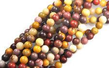 16 Inch Strand Mookaite Jasper Round Gemstone Beads 4MM