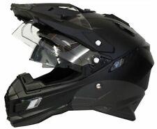 Motorradhelm MX Enduro Quad Helm matt schwarz mit Visier und Sonnenblende S - XL