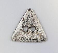 Porzellan Schmuck-Anhänger Knopf Dreieck silber Wagner & Apel D6,5cm 9942337