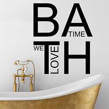 Cuarto De Baño Pared Arte Pegatina-, hora del baño-Pared Arte Vinilo Pegatina Calcomanía