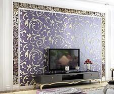 Modern Embossed Environmental 3D Non-woven Bedroom TV Background Wallpaper 5.3㎡