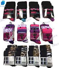 Womens Assorted Fashion Designer Everyday Socks animal print lot Size UK 4-6