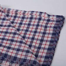 Traditionnel Classique Rouge Blanc Et Bleu À Carreaux Coton Serviette À Thé