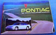 1991 PONTIAC GRAND PRIX  OWNERS MANUAL