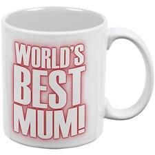 World's Best Mum Mom British Flag Heart All Over Coffee Mug