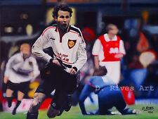 "A4 print ""Giggs Goal Man Utd v Arsenal FA Cup Semi final 1999"" oil painting"