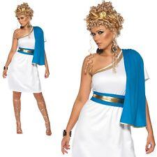 Roman Beauty Costume Womens Ladies Toga Venus Greecian Godess Fancy Dress New