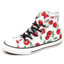 E3808 sneaker bimba bianco CONVERSE ALL STAR scarpe cherry shoe kid baby girl