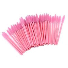 Baby Pink Eyelash Mascara Brushes Disposable Eye Lash Spoolers Extension Wands