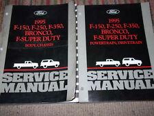 1995 Ford F-150 F250 F-250 350 Bronco Truck Service Shop Repair Manual Set