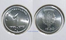 DDR 1 peniques 1948a-1950e *** año y conservación para la selección