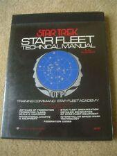 Star Trek Star Fleet Technical Manual Book First Printing1975