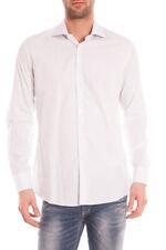 Camicia Daniele Alessandrini Shirt -65% Lino Uomo Bianco C6285R33993501- SALDI