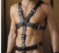 Mans Geniune Leder Body Harness