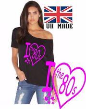I Love The 1980`S. Slash cou Enterrement Vie Jeune Fille au large de l'épaule T Shirt Taille XS à 5x