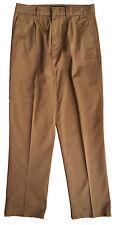 ZARA 1970s Femme CARAMEL Léger Coton Jambe Droite Pantalon UK 8 10