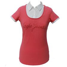 Maglia polo donna Pepe Jeans manica corta cotone collo camicia M tshirt