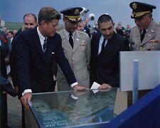 President John F. Kennedy tours Oahe Dam in Pierre South Dakota