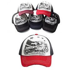 Unisex Mens United States Eagle Summer Mesh Snapback Baseball Cap Trucker Hats