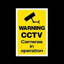 Warning CCTV Cameras - Sign, Sticker - All Sizes & Materials - (MISC32)