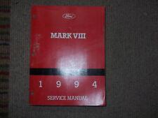 1994 Lincoln Mark VIII EIGHT Service Repair Shop Manual OEM DEALERSHIP 1994