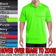 Mens Polo Shirt Mini Mesh Moisture Wick Athletic Xs-Xl, 2Xl, 3Xl, 4Xl New
