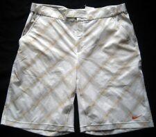 Nike Hommes tennisshort/Crème A Motif/NEUF