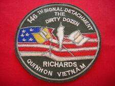 THE DIRTY DOZEN - 146th SIGNAL Detachment At QUI NHON Vietnam War Patch