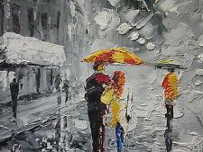 Pintura al óleo de Bellas Artes de París 30x20 cuchillo estilo impresionista abstracto pintura pesada