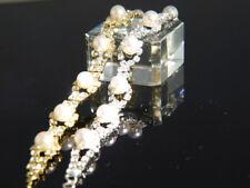"""9ct 9K """" Gold Filled """" Prom made with Swarovski Crystal 6.5"""" - 9 """" Bracelet  189"""