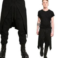 Fashion Mens Pants Black Gothic Punk Hip Trousers Plus Size Jian